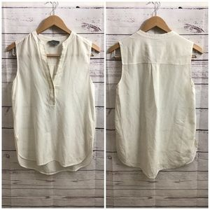 VINCE white silk top